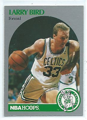 1990 - 1991 Fleer Hoops Larry Bird Boston Celtics #39 Basketball Card