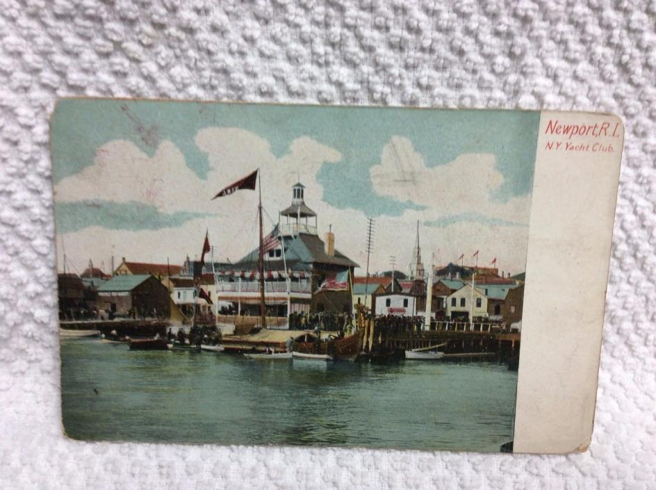 P19 1913 Newport Rhoda Island RI New York Yacht Club NY Post Card