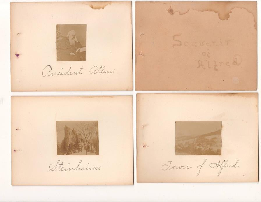 1867-1892 Souvenir Photo Book Alfred NY & Alfred University + Lyceum photo RARE