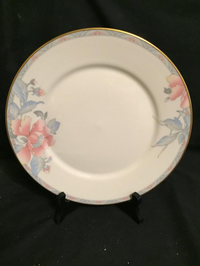 Lenox Westwood Salad Plate, Pink Flowers on Cream, Gold Trim, Mint