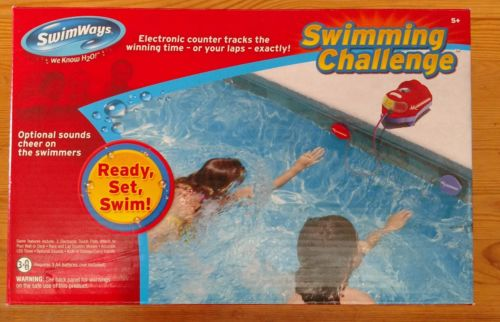NEW SwimWays Swimming Challenge Electronic Lap Counter and Timer Pool Toy
