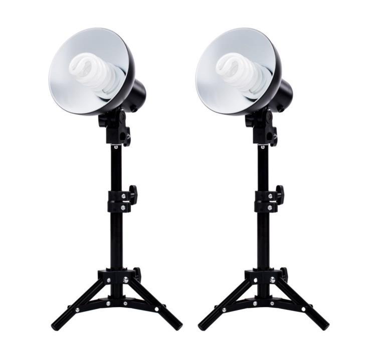 Fovitec StudioPRO - 2x Product Photography Fluorescent Lamp Lighting Kit