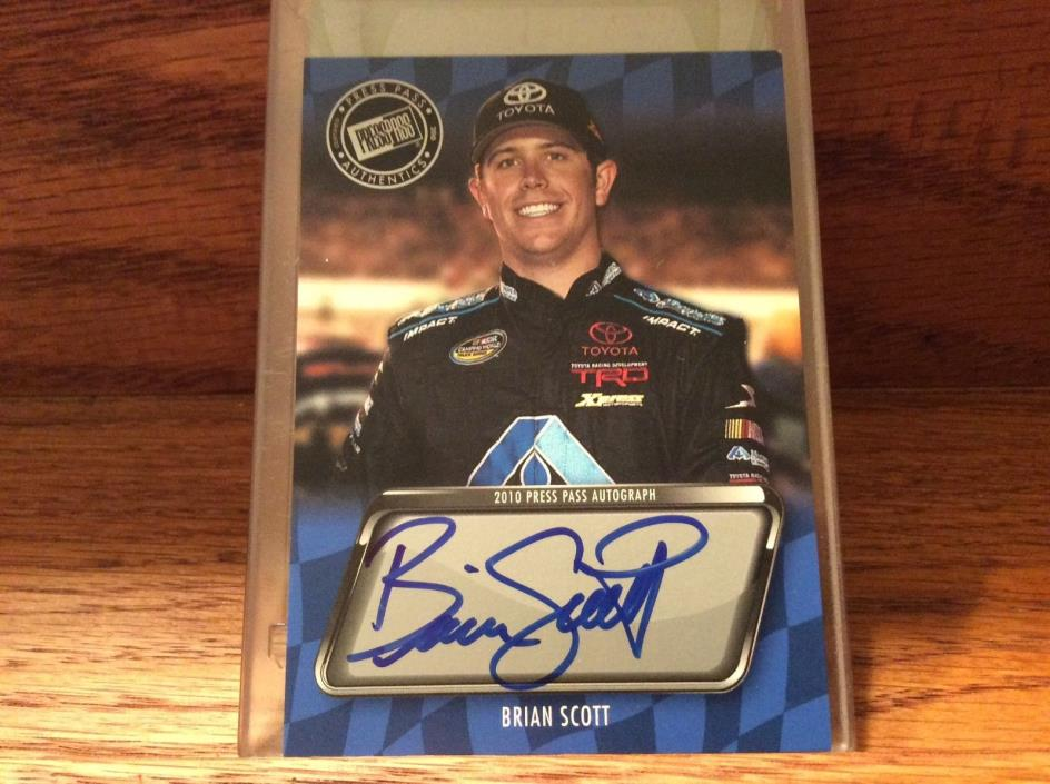 2010 Press Pass Autograph of Brian Scott.