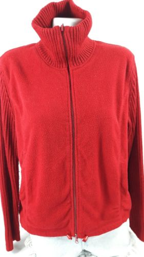 Carolyn Taylor Standing Neck Red Sweater XL Bin 22#23