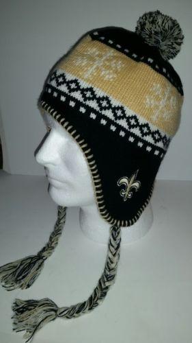 New Orleans Saints black gold knit cap. '47 NFL
