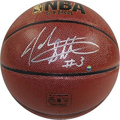 Steiner Sports  John Starks Signed I/O Brown Basketball Signed In Silver NEW