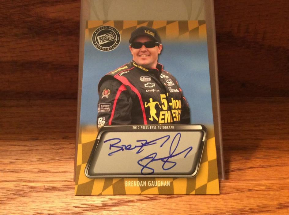 2010 Press Pass Autograph of Brendan Gaughan.