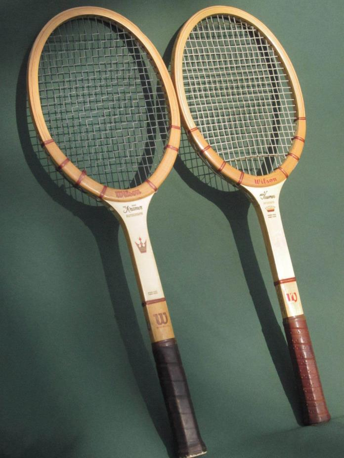 WILSON JACK KRAMER AUTOGRAPH TENNIS RACKET SET of 2 Vintage MEDIUM SIZE