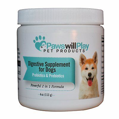 100% Naturally Derived Probiotics for Dogs w Added Prebiotic, Digestive Suppleme