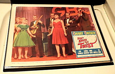 Don't Knock The Twist Original 1962 Lobby card Featuring Linda Scott Singing