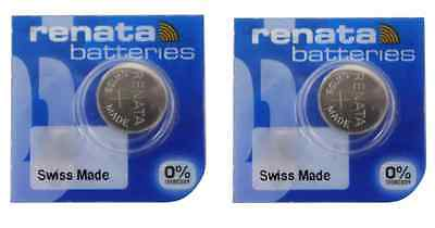Renata 397 (SR726SW) Cell Battery 0% Mercury 2-Pack - FREE SHIPPING
