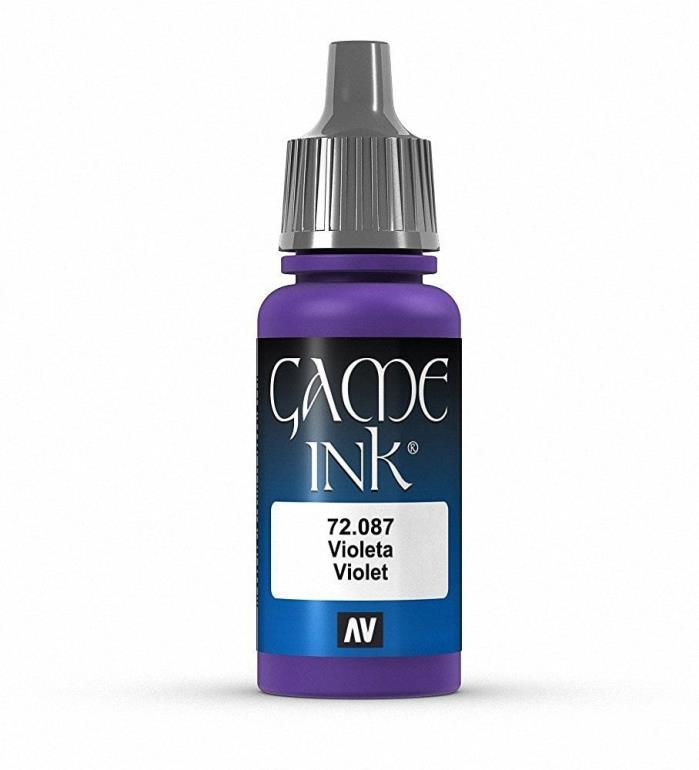 Brand New Vallejo Game Ink Paint 17ml Acrylic - Violet 72.087