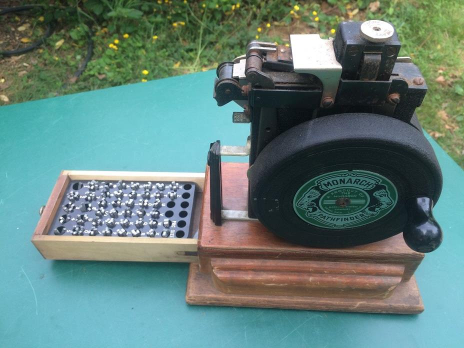 vintageMonarch Marking System Pathfinder price tag ticket making machine.1940's