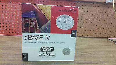 Ashton-Tate Dbase IV for DOS Version 1.1 Evaluation Copy STILL SEALED Rare