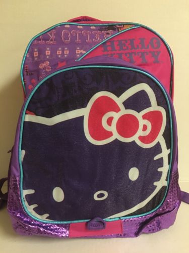 New With Tag! Hello Kitty 2in1 Backpack With Rain Hood