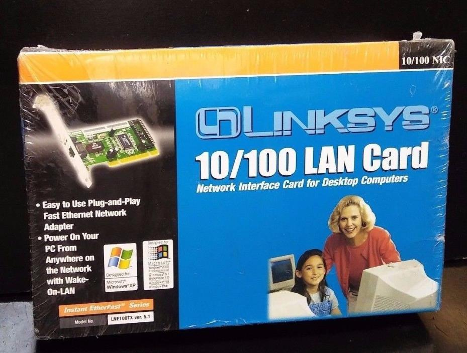 New LINKSYS LNE100TX Ethernet PCI Lan Card 10/100 EtherFast