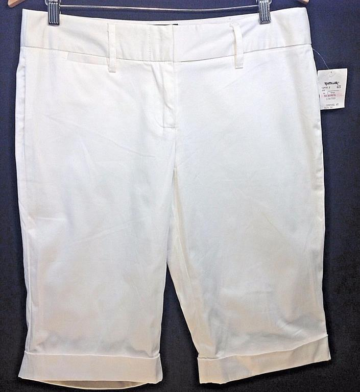 Women's NWT The Limited Brand Drew Fit White Dressy Shorts Sz 10 FREE SHIPPING