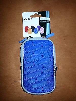 Lot of 6 New Vivitar Stacker Series Blue Universal Camera Case w/tags