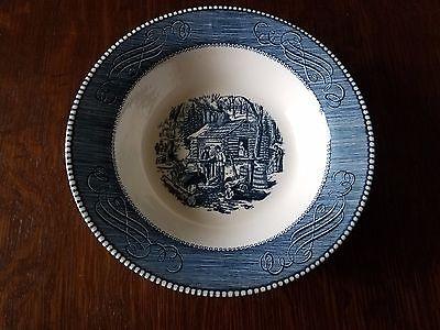 Vintage Royal China Blue Currier & Ives 9
