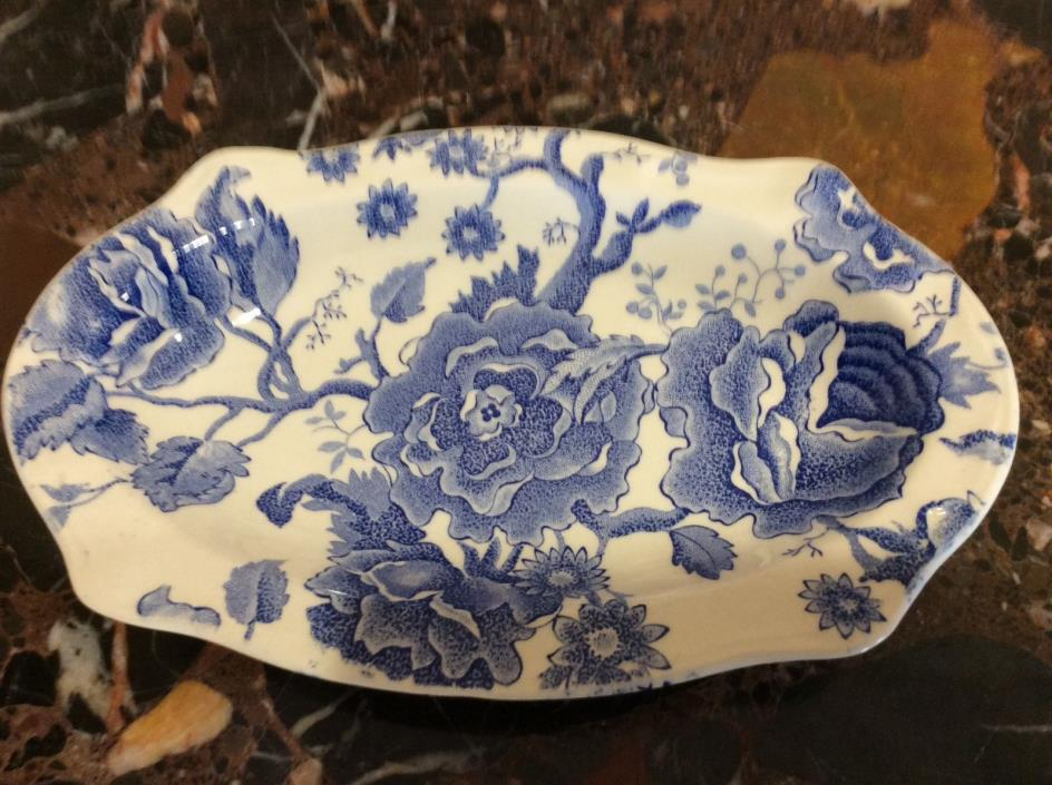 Johnson Brothers English Chippendale . Blue Relish, Gravy Underboat