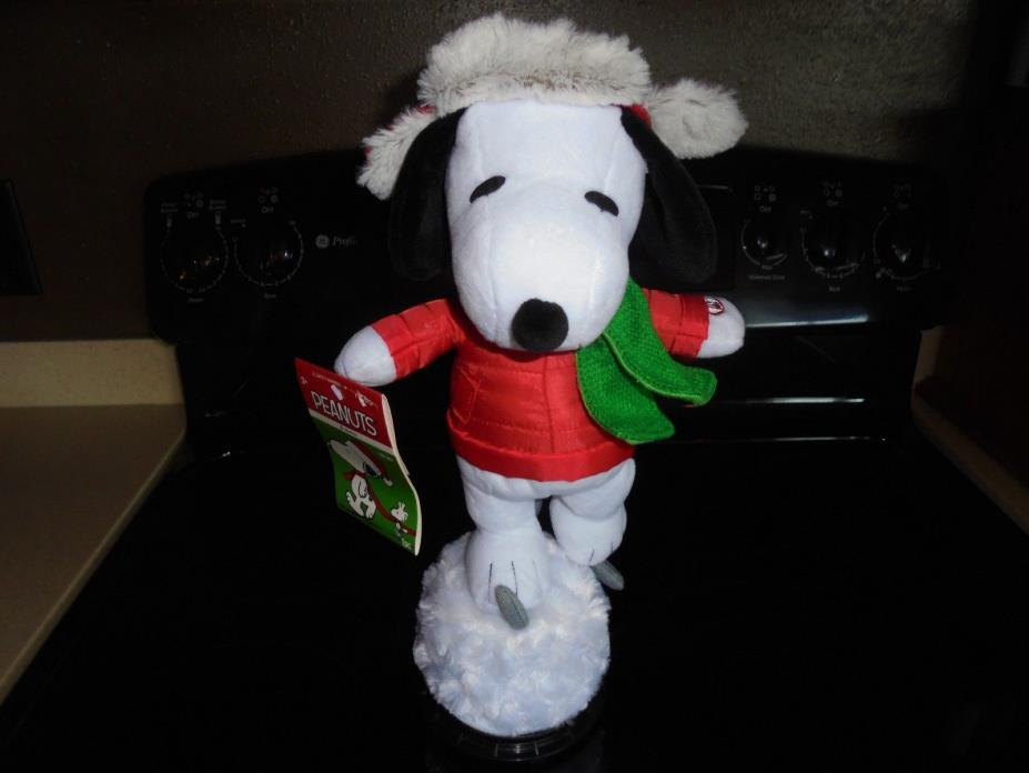 PEANUTS ANIMATED MUSICAL WINTER ICE SKATING SNOOPY PLUSH NEW WITH TAGS!!!!!