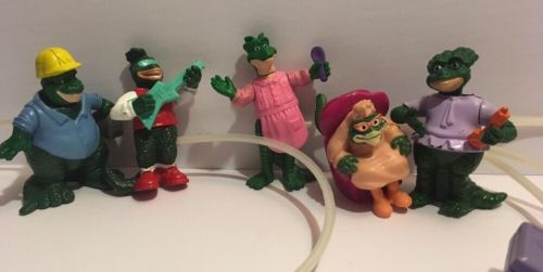 1992 Dinosaurs TV McDonald's Dino Motion Figures Happy Meal Toys Lot of 5