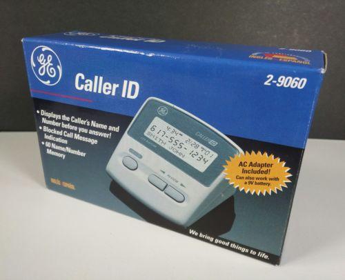 GENERAL ELECTRIC GE CALLER ID 2-9060 60 NAME/NUMBER CALL MEMORY