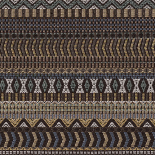 1.75 yds Knoll Upholstery Fabric Menagerie Stripe Jaguar Brown K13227 FF37