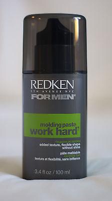 Redken For Men WORK HARD Molding Paste 3.4oz