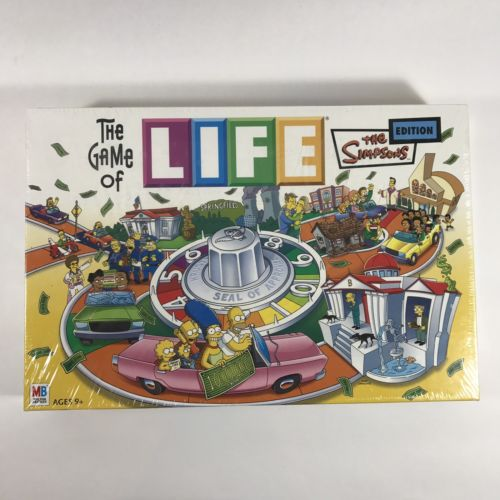 The Game Of Life THE SIMPSONS EDITION Milton Bradley Hasbro 2004 NEW SEALED