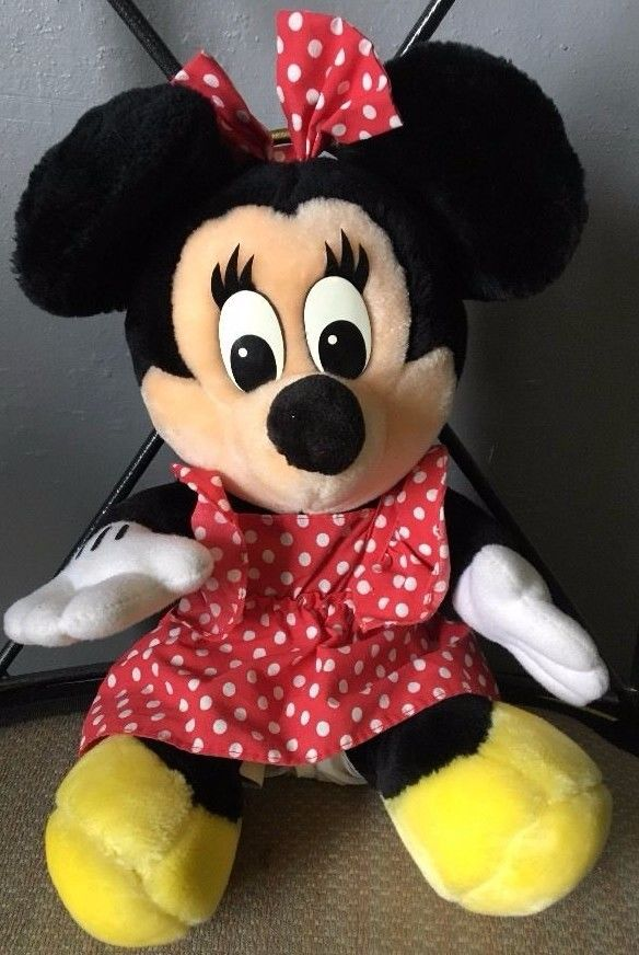 Minnie Mouse Stuffed Animal Plush Red Polka Dot Dress Collection 18 Inch Disney