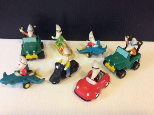 Vintage 1988 McDonald's Kids Happy Meal Mac Tonight (7) Vehicles Moon Pvc