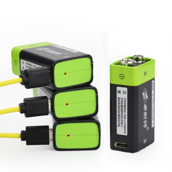 USB Rechargeable 9V Lipo Battery 400mAh Cable 1.5 Hours Charging Energy Power