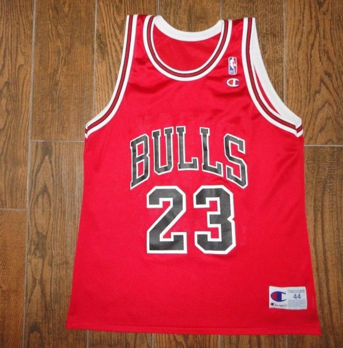 Mens VTG Michael Jordan Chicago Bulls Champion Jersey Sz. 44