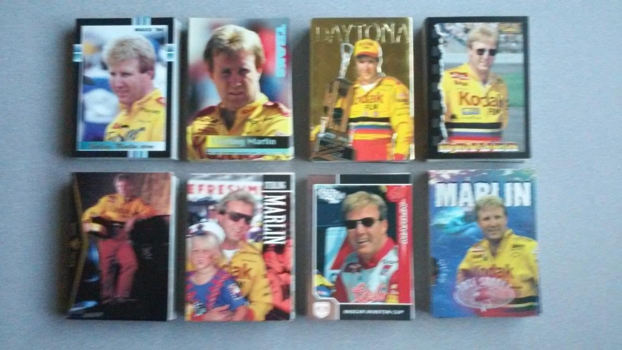 Lot of 222 Race Cards of NASCAR Driver and Daytona 500 Winner Sterling Marlin