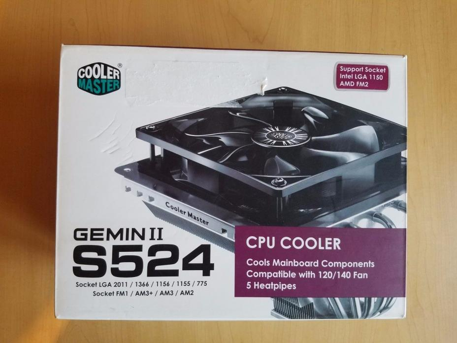 CPU Cooler Master Geminii S524 Version 2CPU Air Silencio FP Fan RR-G5V2-20PK