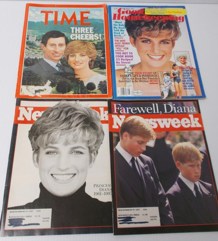 The Day DIANA Died  Princess  Book  5 Magazines + 2 Mpls Mankato MN Newspapers