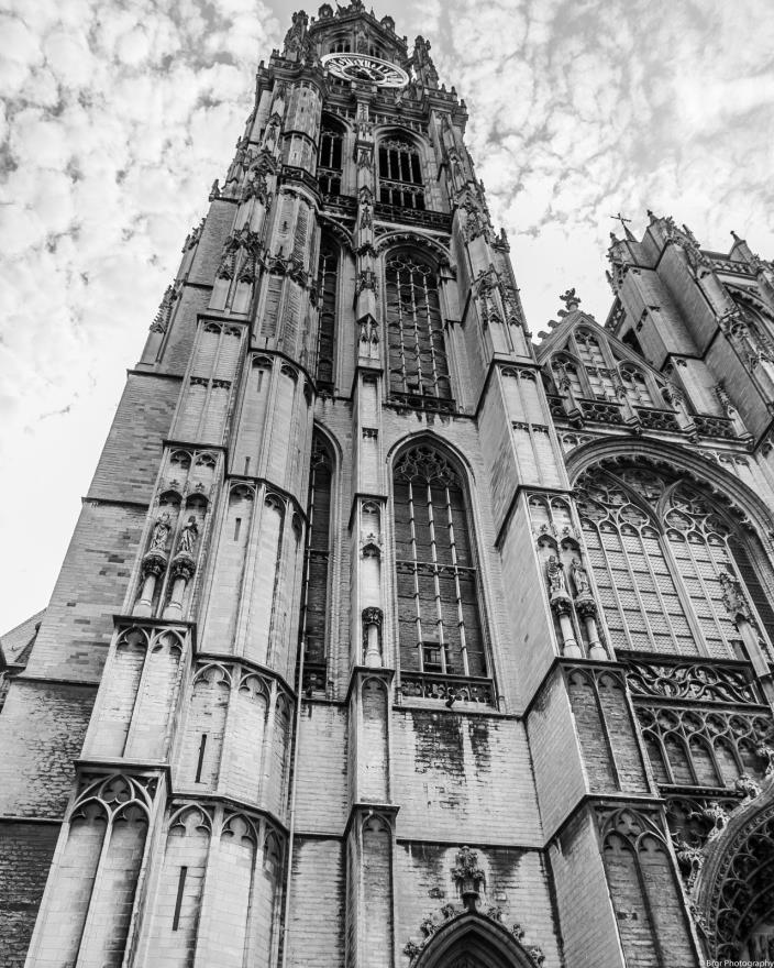 Antwerp Belgium Black and White Architectural 8x10 photograph