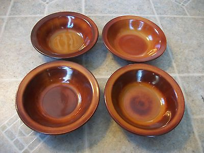 REDUCED Set of 4 Midwinter Ceramic Brown Bowls Staffordshire England