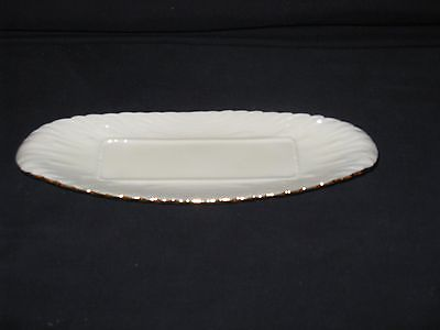 Lenox China: OPEN BUTTER DISH GOLD ACCENTS