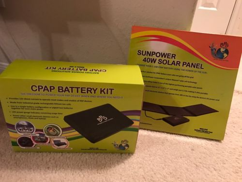 CPAP Complete Battery Kit & Sun Power 40w Solar Charging Panel