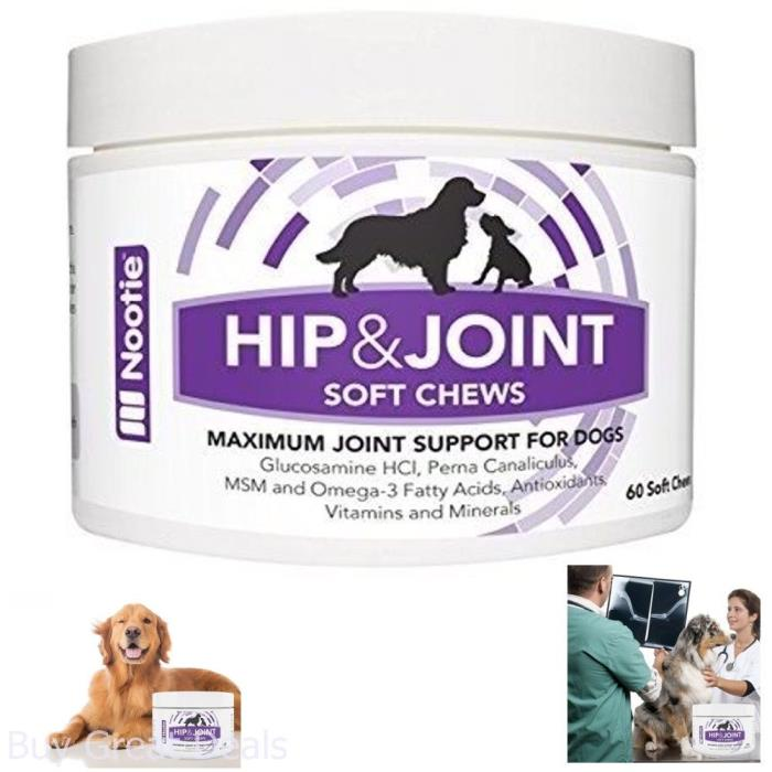 Glucosamine Chondroitin Hip And Joint Supplement For Dogs, 120 Soft Chews