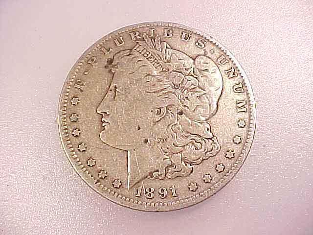 1891-O  MORGAN SILVER DOLLAR Good Detail