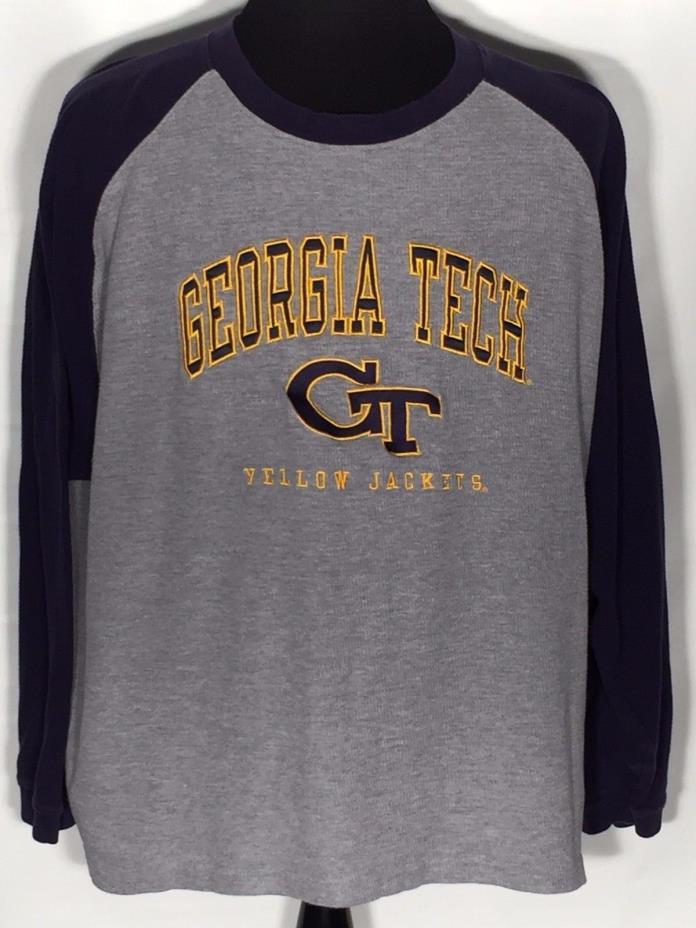 Georgia Tech Yellow Jackets GT Embroidered NCAA College 2XL Long Sleeve Shirt