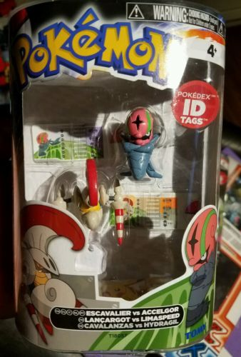 Pokemon Tomy figure 2 pack Escavalier Accelgor