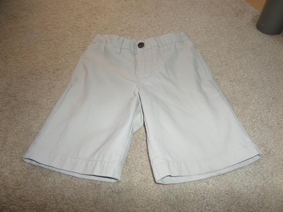 Boys Khakis Gap Plain Front Adjustable Tabs Shorts  SIze 6 (EUC)