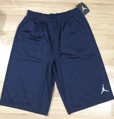 Jordan Shorts Youth XL 13-16 Years Mesh Navy Blue NEW!!