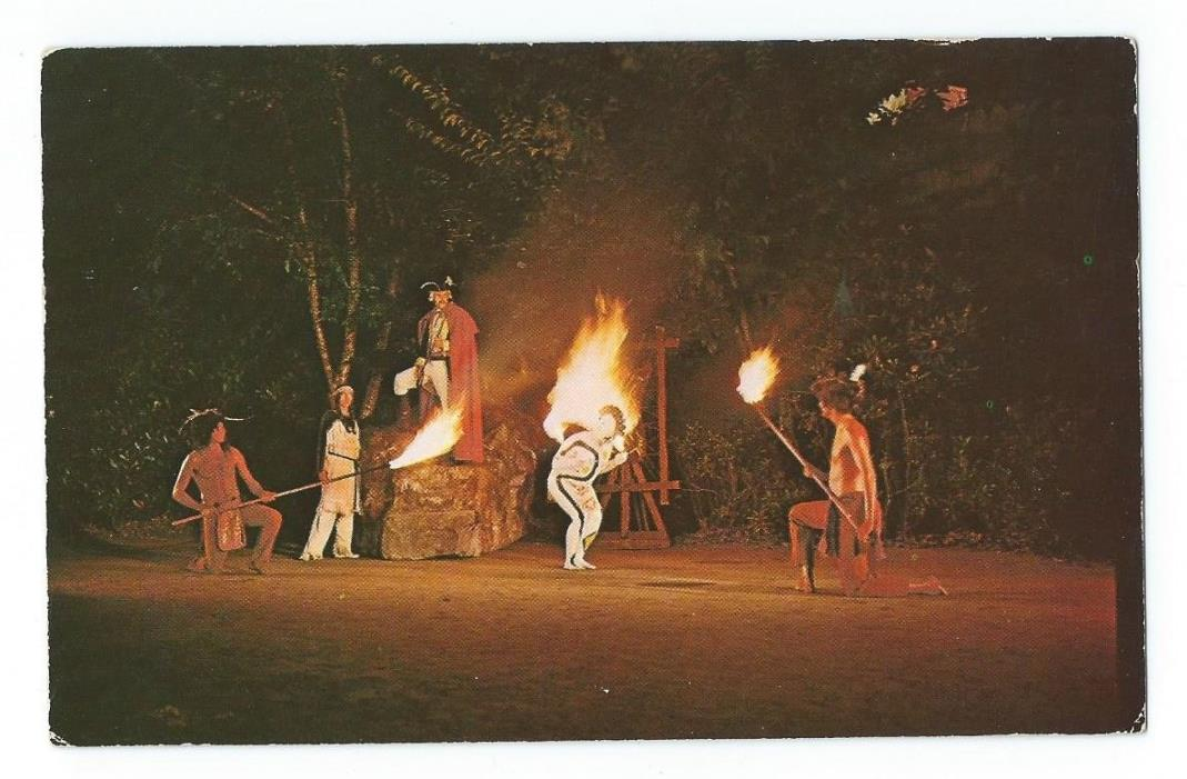 Postcard The Indian Flame Dance, Boone, North Carolina