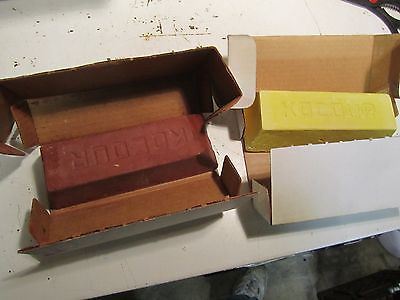 Buffing Compound 2 large BRICKS yellow and red