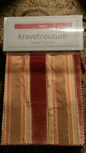 Henna Kravet Couture Color Weaves #5423 upholstery swatch sample book textiles